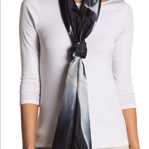 Eileen Fisher Hand Dyed Colorblock Silk Scarf